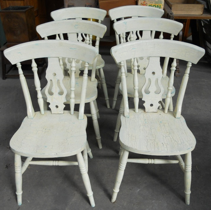 retro metal kitchen cabinets do it yourself victorian style painted table & matching six chairs